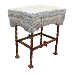 Small Marble Stool with...