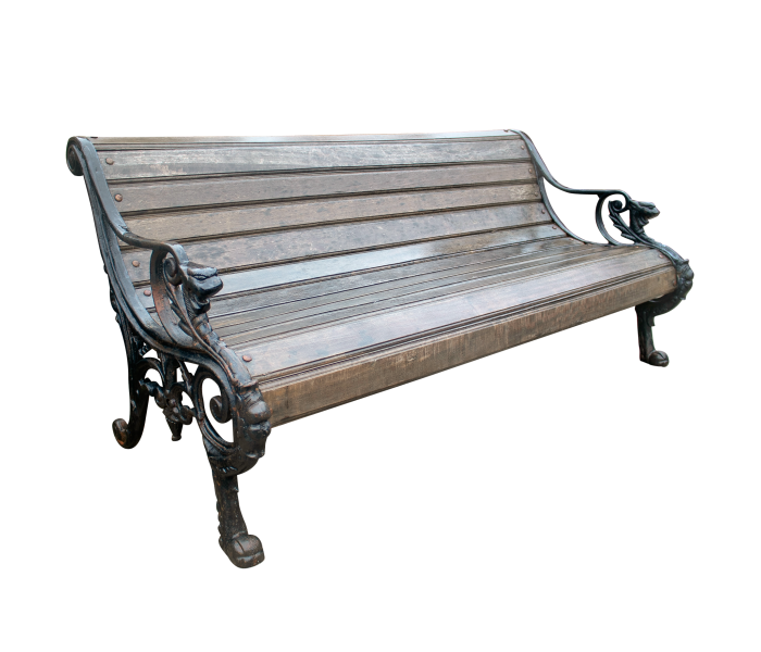 Cast Iron Bench with Wooden Planks