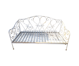 Aluminium Bench with Iron Seat Planks