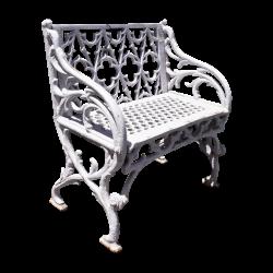 White Cast Iron Seat