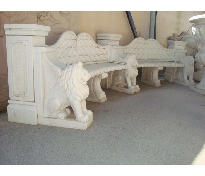 Banco para jardín realizado en mármol...